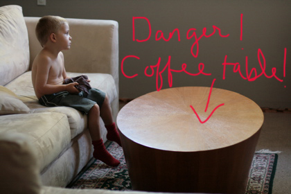 tooth offending coffee table
